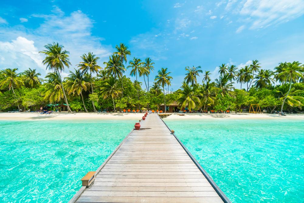 stunning beach in maldives