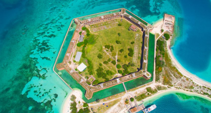 Birds Eye View Of Dry Tortugas National Park