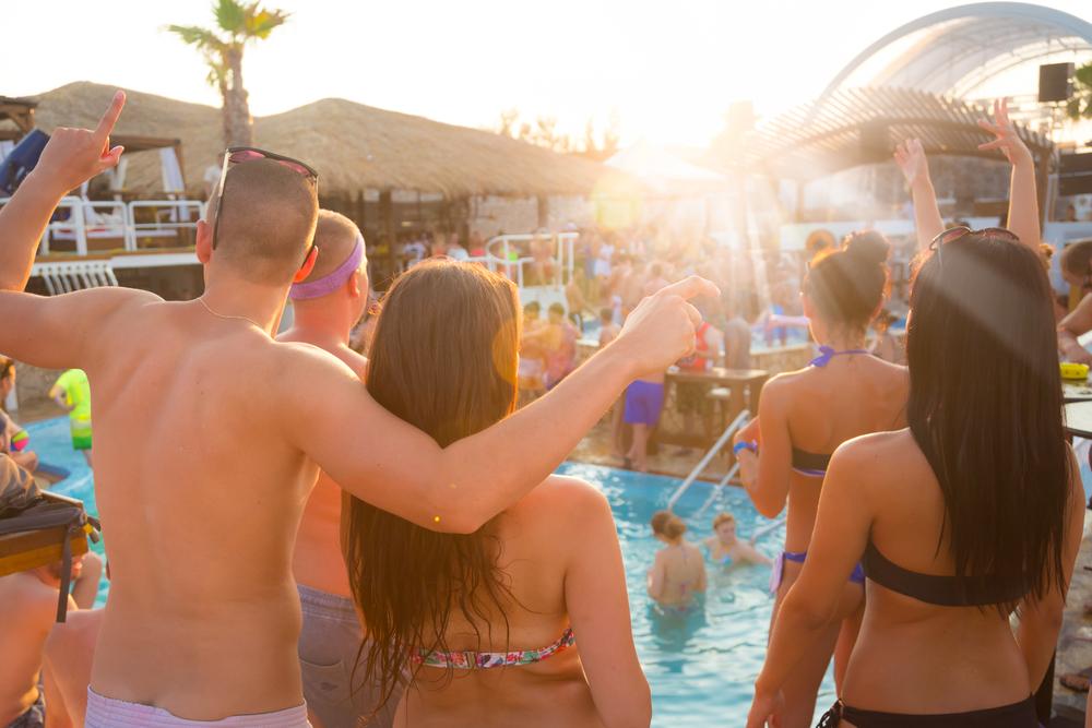 las vegas beach parties