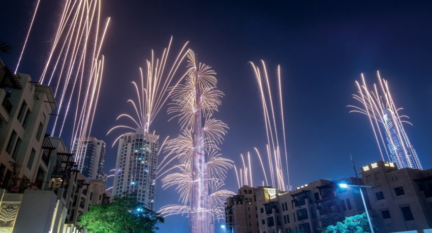 fireworks at the dubai shopping festival