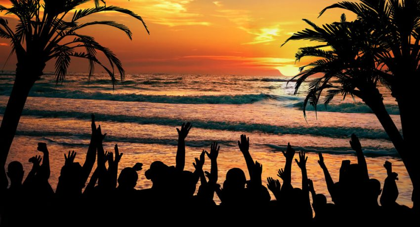 beach party in barbados st lawrence gap