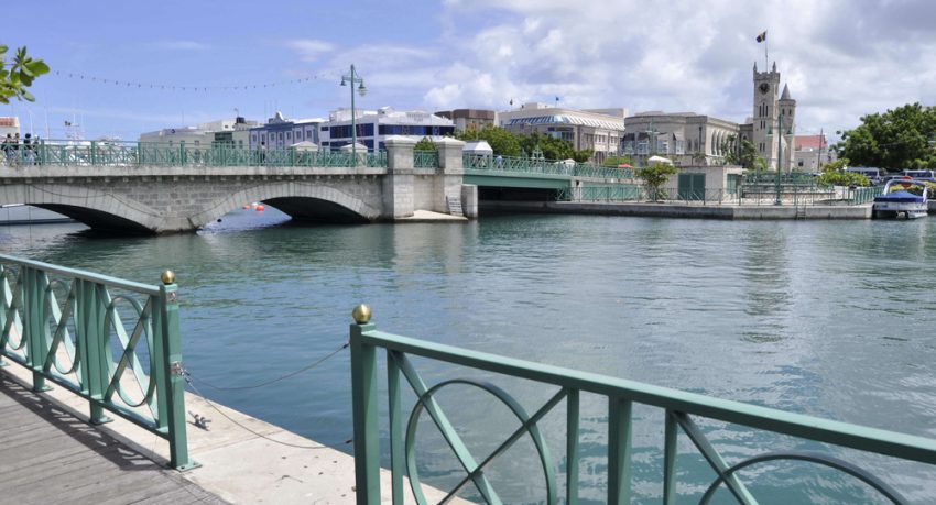 bridge over water in bridgtown barbados