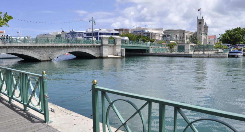 bridge over water in bridgtown barbados