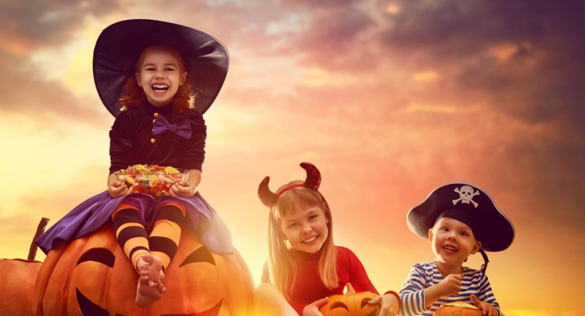 children dressed up in florida for halloween