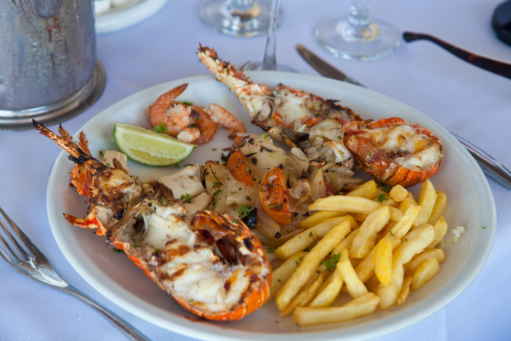 lobster - food in st lucia