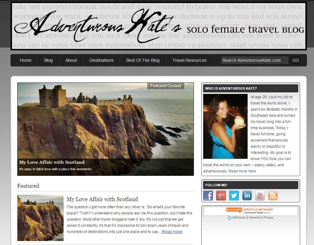 adventurous kate blogger