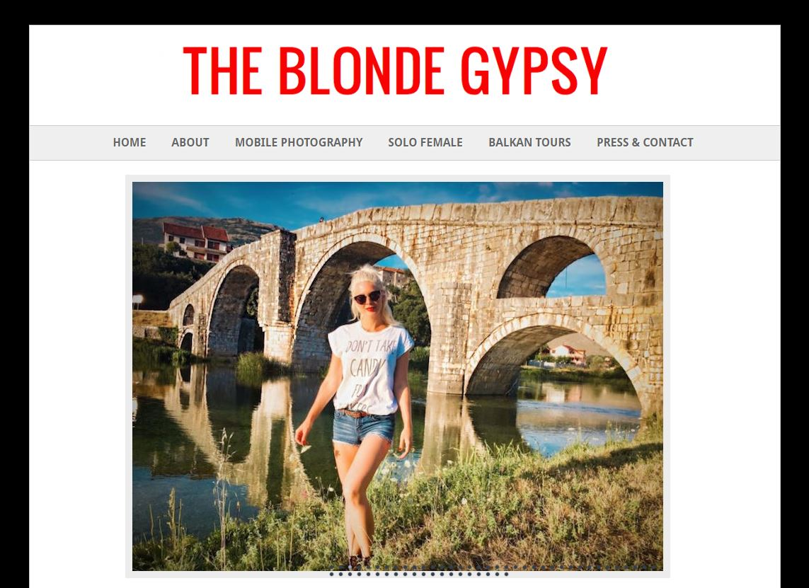 the blonde gypsy blogger