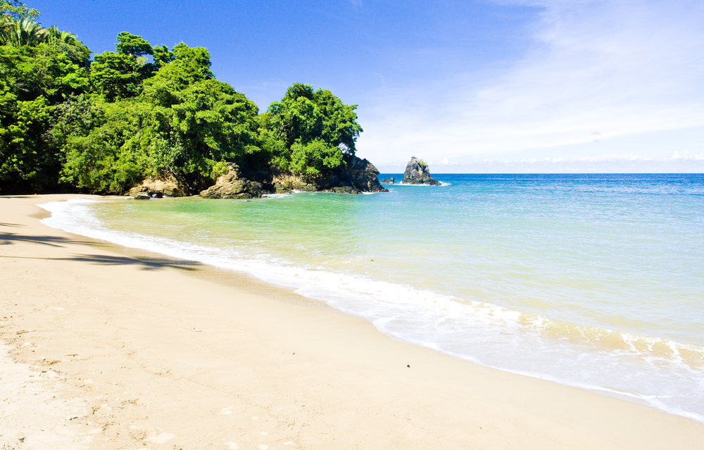 secluded beach in tobago