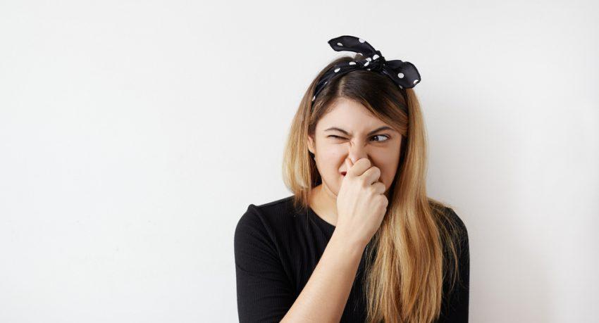 girl smelling food