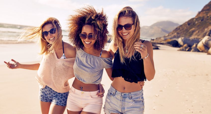 girls weekend on the beach