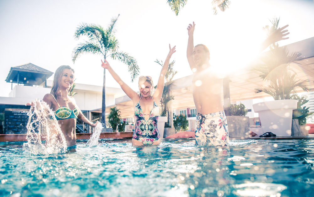 pool party in hotel