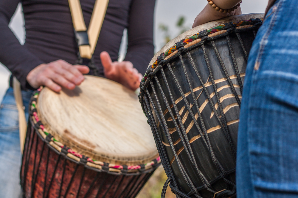 playing drumms