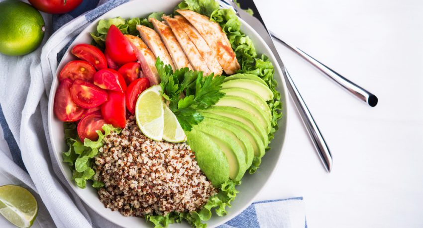 salad bowl healthy eating