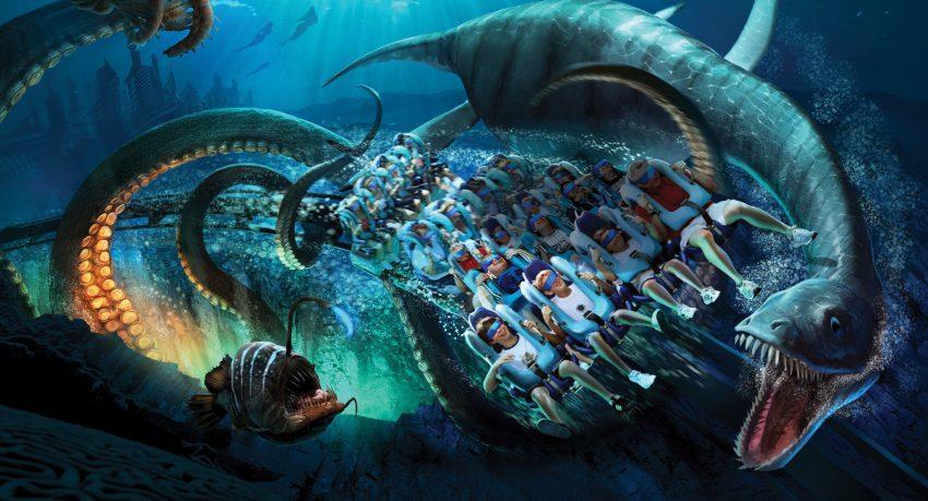SeaWorld Kraken VR Coaster 2017