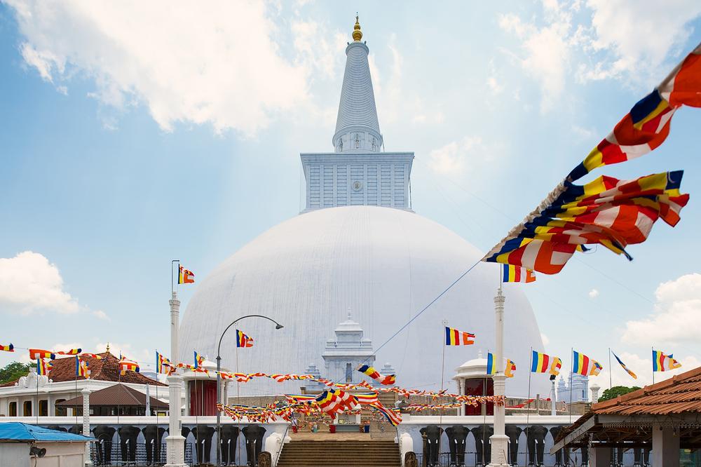 Ruwanwelisaya temple in sri lanka