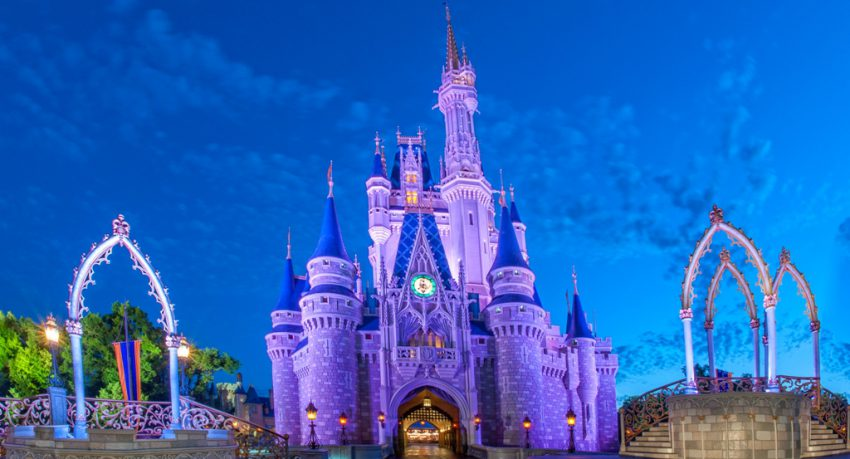 cinderella castle at disney world orlando