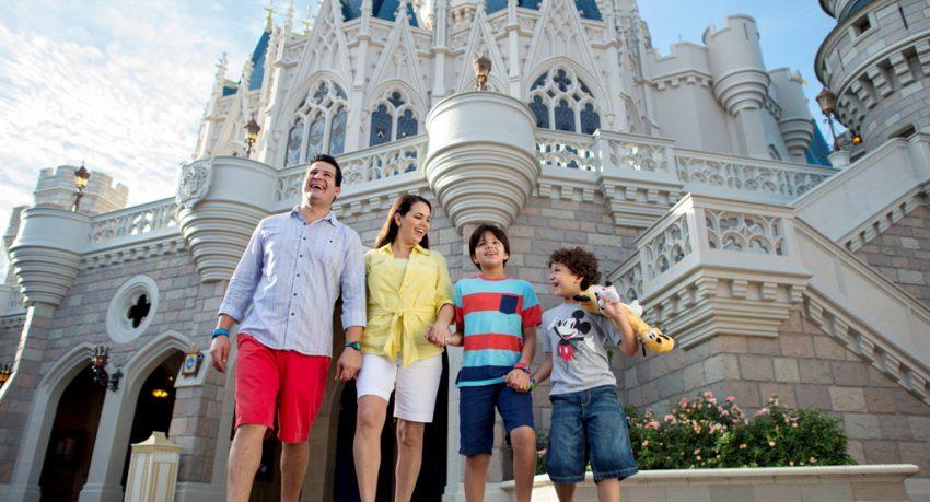 family at disney world