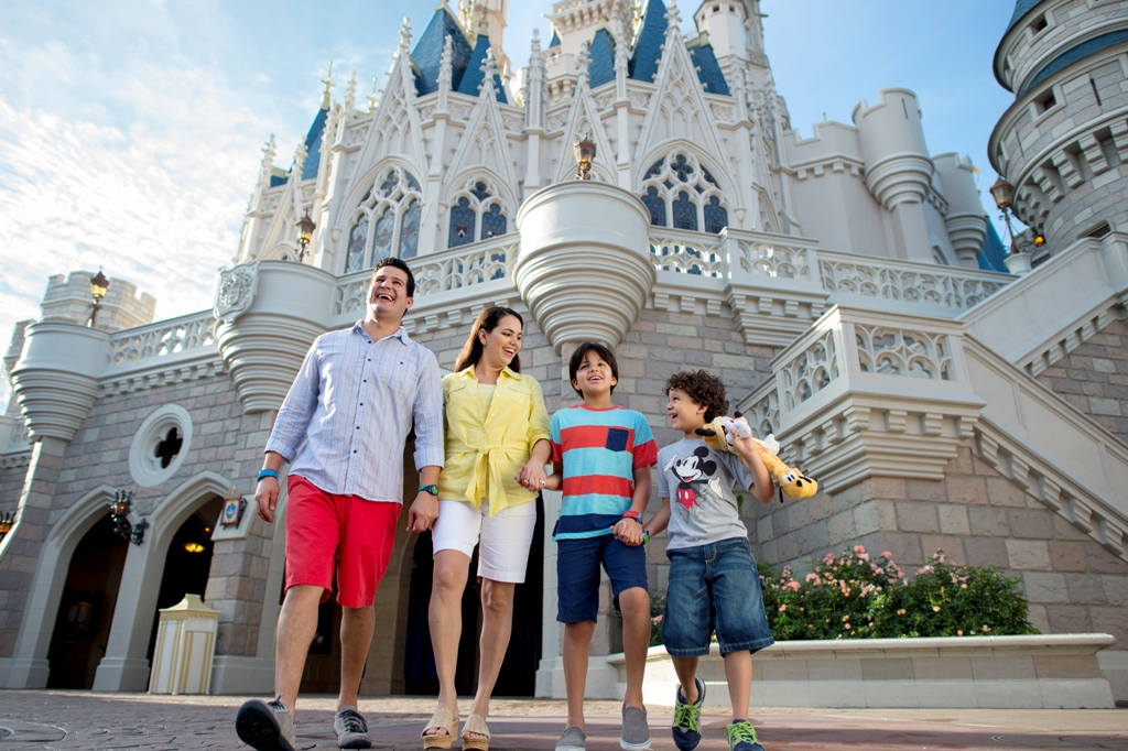 family visiting walt disney world in orlando