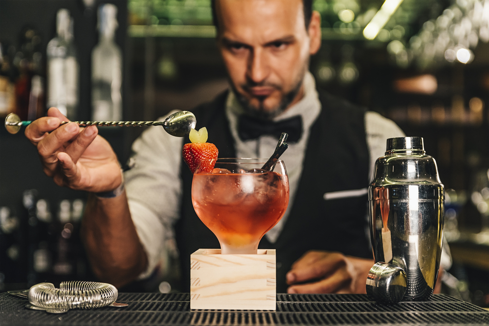 preparing a cocktail in new york